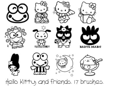 Hello Kitty Templates and Coloring Pages. Free Printables