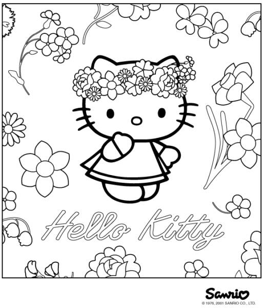 Hello Kitty Coloring Pages - Get Coloring Pages   600x519